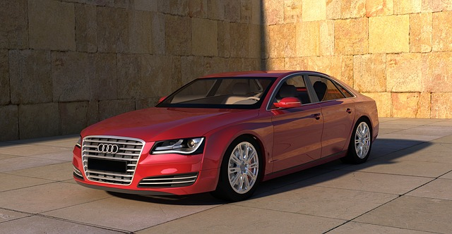 červené Audi A8